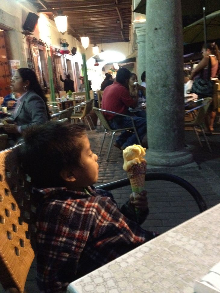 Ice Cream with a Tiny Business Man
