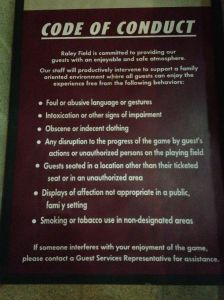 code of conduct sign