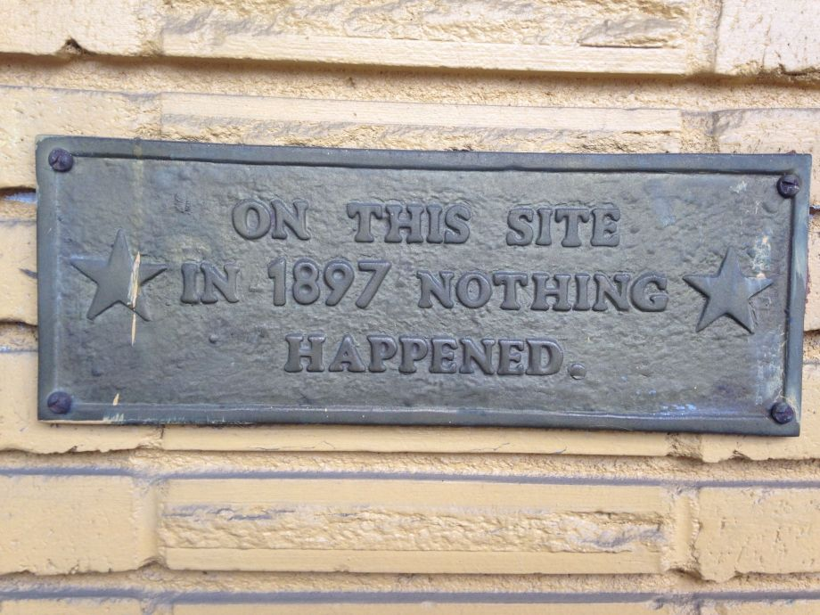 sign nothing happened