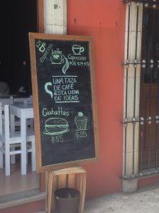 sign coffee