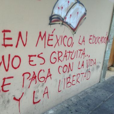 In Mexico education isn't free, it is paid with life and liberty.