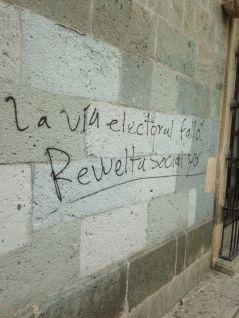 The electoral way failed; social revolt already.