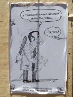 Cartoon depicting Oaxaca's Governor.